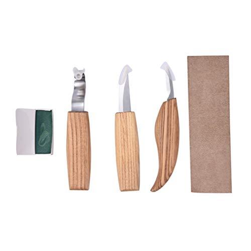 HOCOVER 5 Stück Hohe Manganstahl Gravur Cutter Pattern Kit Gravur Holzbearbeitung Gravur Gravur Gravur Machete -