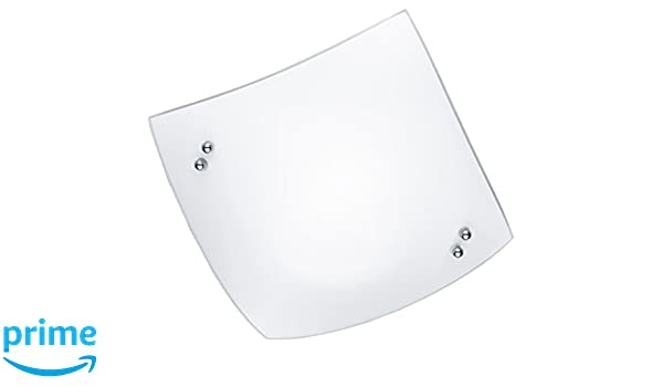 Plafoniera Quadrata Vetro Satinato : Plafoniera sn papiro e led vetro bianco lampada soffitto
