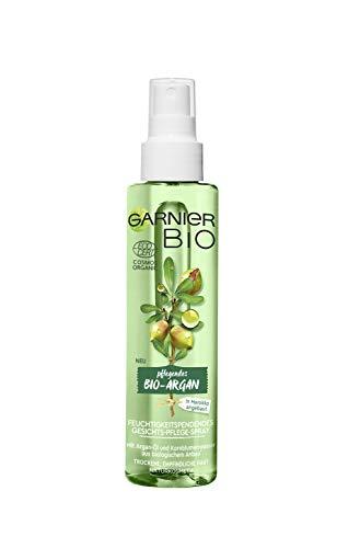 Garnier Bio Arganöl Gesichtsspray Kornblume Gesichtspflege, Naturkosmetik, Argan Feuchtigkeitsspendendes Gesichts-Pflege-Spray, 2er Pack (2 x 150 ml) -