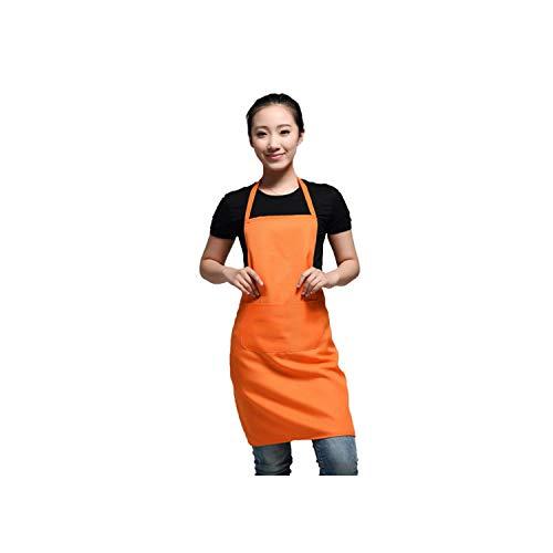 Shimmer Lumine-apron Schürze Schwarz Farbe 63X70Cm Polyester klassischer Entwurf Arbeits-Schürze Küchen-Schürze mit Taschen-Paare Schürze, Orange Farbe 6 -