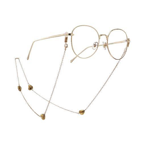 Susulv Punk Choker Goldene Mode Pfirsich Herz Kristall Brille Kette Brillenketten Und Schnüre Für Frauen Sonnenbrille Halter Strap Lanyards Halskette