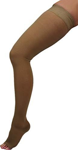 ArmoLine Kompressionsstrümpfe Oberschenkel hoch 20-30 mmHg offene/geschlossene Zehenklasse 1 Overknee High für Schwellungen, Krampfadern (4XL) -