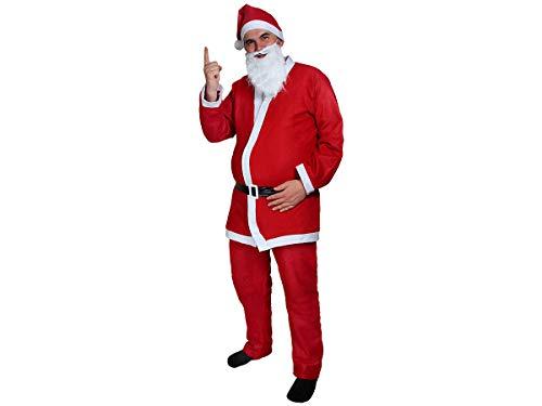 Komplette Weihnachtsmann Kostüm - Weihnachtsmannkostüm Alsino Weihnachtsmann Nikolaus Kostüm komplett mit Bart 74 von Alsino