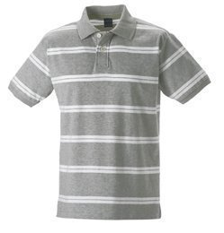 Russell Europe - Polo - - Manches courtes Homme - Multicolore - Grey/White - petit