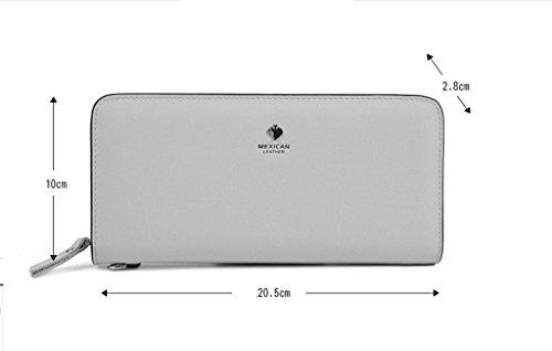 Zipper borsa del portafoglio femminile Lungo Tratto Di Portafoglio in pelle di alta capacità delle donne borse frizione ( colore : Rosy Red ) Nero