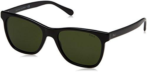 Polo ralph lauren 0ph4128 500171, occhiali da sole uomo, black/green, 54