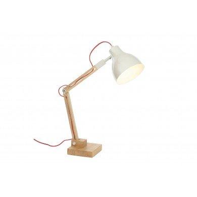 Oak Effect And Cream Task Lamp