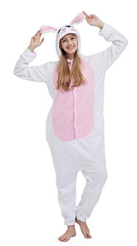 SAMGU Einhorn Adult Pyjama Cosplay Tier Onesie Body Nachtwäsche Kleid Overall Animal Sleepwear Erwachsene Kaninchen M