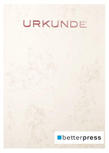 Urkunden Vordrucke Marmor geprägt Reliefprägung 200 g/m² din a4 10 Stück warm grau Betterpress (Bronze)