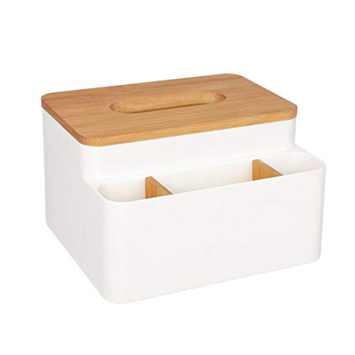Karidesh Toilettenpapier Box Home Organizer Decor Holz Tissue Box Halter Servietten Fall (Color : White) - Servietten Fall