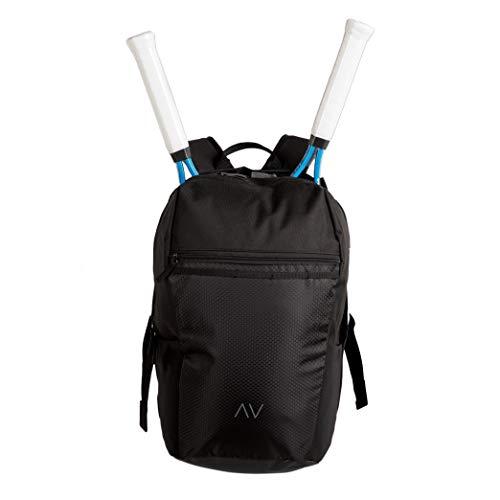 Gigavibe Tennisrucksack in schwarz mit Quad Zip Schlägerhalter -