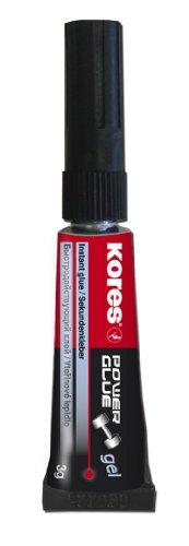 Kores Colle instantanée Power Glue Gel, pointe fine, 3 G, Transparent