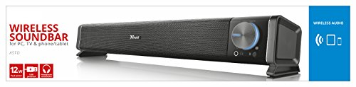 31yeTZRYegL - Trust Asto PC Soundbar Speaker for Computer, Laptop and TV, 12 W, USB Powered, Black/Silver