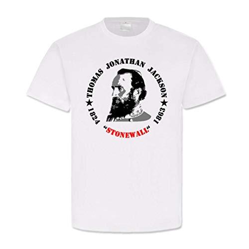 Copytec Thomas Jonathan Jackson Stonewall Südstaaten Major Us-Heer General #860, Größe:4XL, Farbe:Weiß - General Stonewall