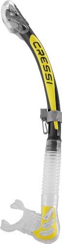 Cressi Alpha Ultra Dry - Snorkel, color negro / amarillo