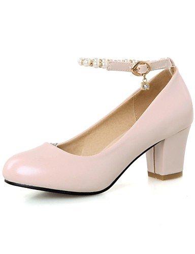 GS~LY Da donna-Tacchi-Ufficio e lavoro / Casual-Tacchi / Punta arrotondata-Quadrato-PU (Poliuretano)-Blu / Rosa / Bianco pink-us8 / eu39 / uk6 / cn39