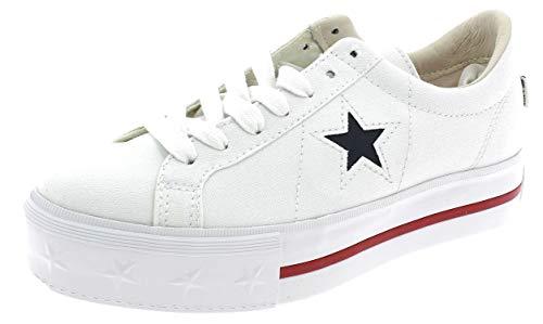Converse Schuhe Frau niedrige Turnschuhe mit plattform 564030C ONE Star Platform OX Größe 39.5 Weiß (Converse-plattform)