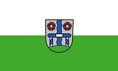 Unbekannt magFlags Raum-Fahne mit modernem verchromtem Fahnenständer und Marmor-Fuß | Flagge: Gröbenzell 90x150cm | Höhe: 230cm