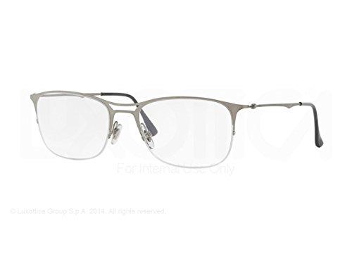 RAY BAN Brillengestell RX 8715 1156 Gebürstetes Silber 57MM