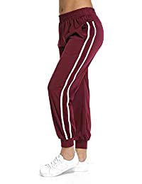 a3b09be258c RIOJOY Women s Casual Athletic 2-Stripe Jogger Pants Drawstring Waist  Sweatpants Tracksuit Bottoms with Pockets