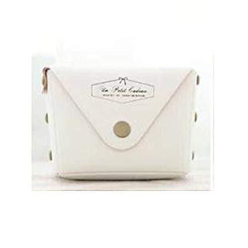 VCB Hand Reißverschluss Geldbörse Einfache Candy Farbe Münztüte Woman Fashion Key Bag - weiß