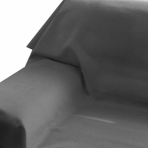 Brilliant Sofaüberwurf - Eckig 160 x 320 cm Farbe wählbar - Grau Anthrazit Tagesdecke UNI Einfarbig mit Lotus Effekt
