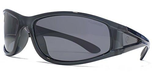 e0308d195f Freedom Polarised Quattro lenti occhiali da sole avvolgenti in cristallo  grigio FRG145401 One Size Grey Polarised