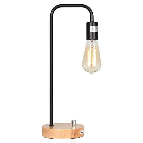 Características: La lámpara de mesa industrial moderna le da a la habitación un toque industrial. Consiste en un marco de metal de alta calidad y una base de lámpara moderna, que transmite una sensación industrial moderna. La luminaria puede equipars...