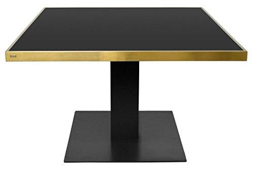 Casa Padrino Designer Esstisch Schwarz / Gold 120 x 120 x H. 76 cm - Luxus Esszimmermöbel