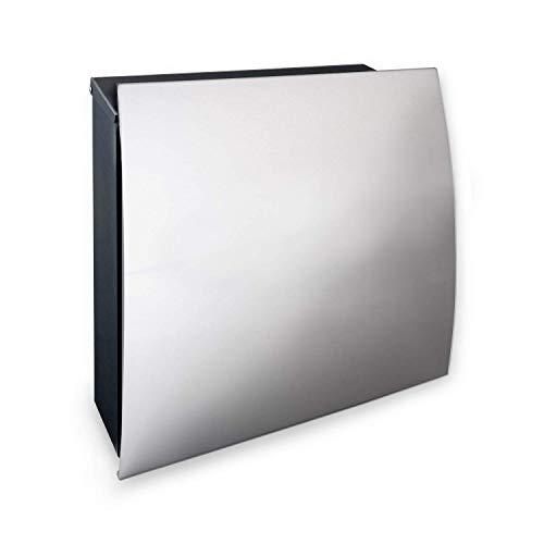 Neu Modern Design Briefkasten Anthrazit Postkasten Aus Edelstahl