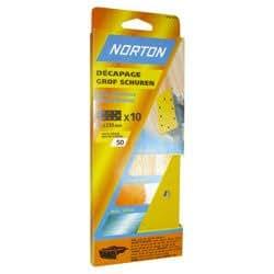 Norton Lot de 8 Patins perfores 8 Trous ovales 93 x 230 Grain 36