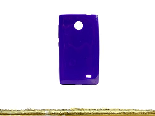 iCandy™ Colorfull Thin Soft TPU Back Cover For Nokia X / X+ - Purple  available at amazon for Rs.99