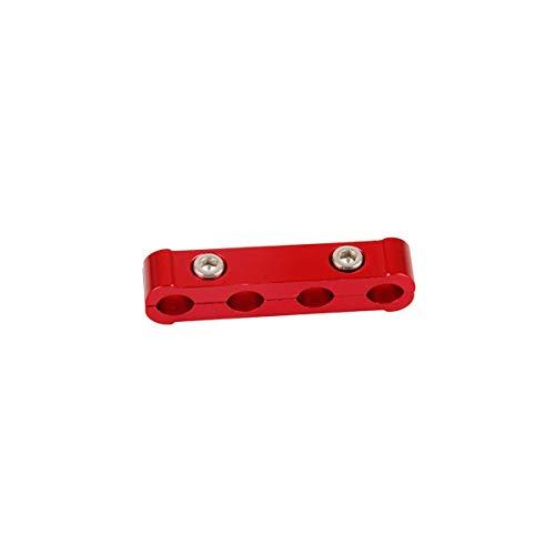 JDDRCASE Parti, 3 Pezzi di Kit in Lega di Alluminio Rosso Motore Candela Candela separatore distributore Manager Manager, ricambi Auto