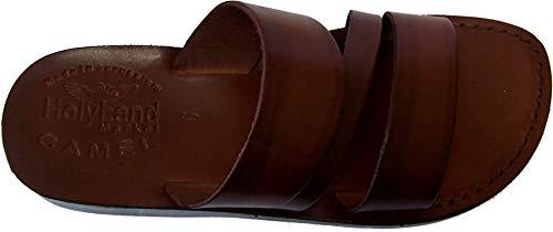 HolyLandMarket - Sandals Herren Camel Schäferhund Style I Leder biblischen Sandale, braun - braun - Größe: 39 M EU -