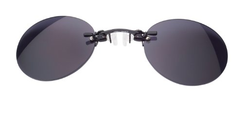 Nasenkneifer Sonnenbrille / Zwickel in schwarz