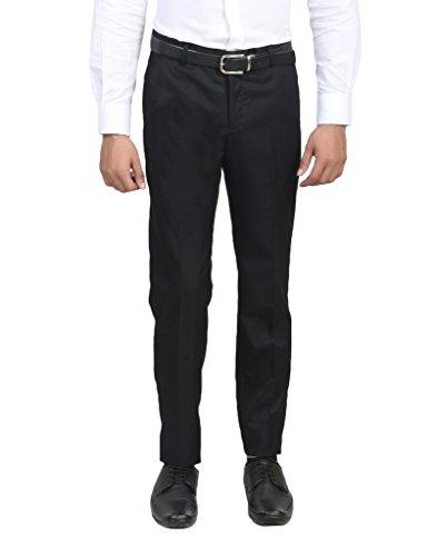 ManQ Black Premium Mens Formal Pant/Trouser