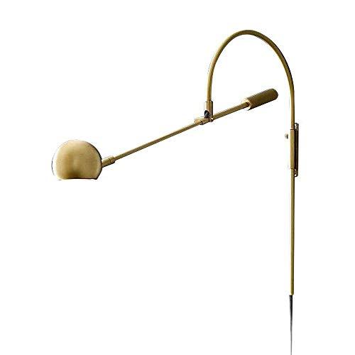 SNHWARE Moderne Wandleuchte Einfache Kreative Rotierenden LED Leselampe Nachttischlampe Spiegel Scheinwerfer Hotelzimmer Treppen Gang Wandleuchte [Energieklasse A +] -