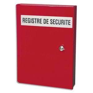 """Coffre registre de sécurité en tôle d'acier, fermeture serrure """"Triangle"""""""