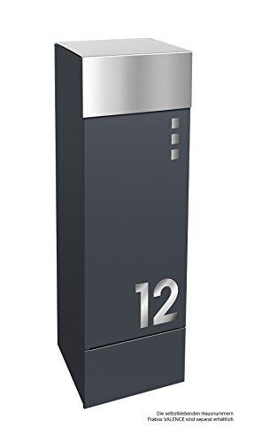 frabox Design Paketkasten Namur EXKLUSIV Edelstahl/Anthrazitgrau - 7