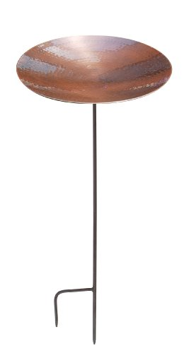 Achla Designs Burnt Copper Birdbath With Stand