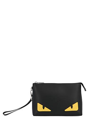 Fendi Herren 7N0102o73f17hq Schwarz Leder Clutch - Handtaschen Schwarz Fendi
