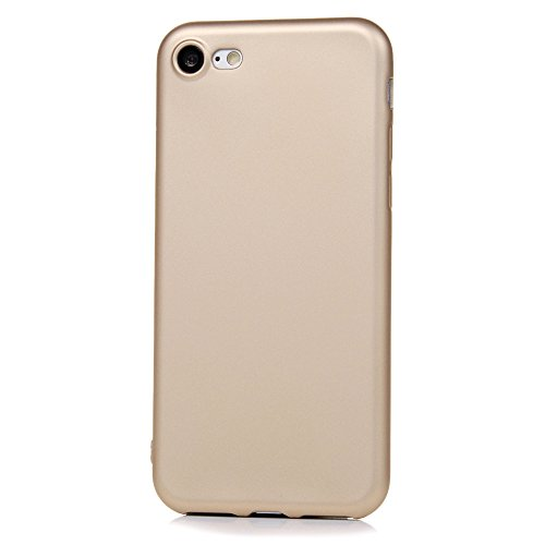 iPhone 7 / iPhone 8 Hülle Case,KASOS iPhone 7 / iPhone 8 Handyhülle Schale Monochrom TPU Etui Protective Case Schützende Stoßdämpfung Cover, Rosé-gold Richie gold