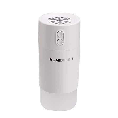 LANSKIRT Home LANSKRLSP Luftbefeuchter, Mini-Licht-LED-Zerstäuber mit USB-Int-Aromatherapie-Diffusor, Luftbefeuchter, Luftbefeuchter, tragbar, Fassungsvermögen: 400 ml, weiß, Einheitsgröße - Premium Duftöl Diffusor