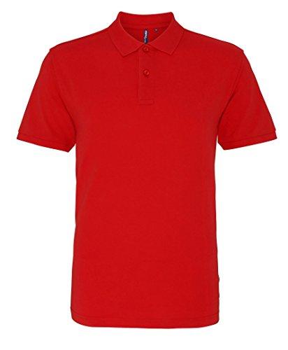 Asquith Fox Herren Poloshirt Rot ausgewaschen
