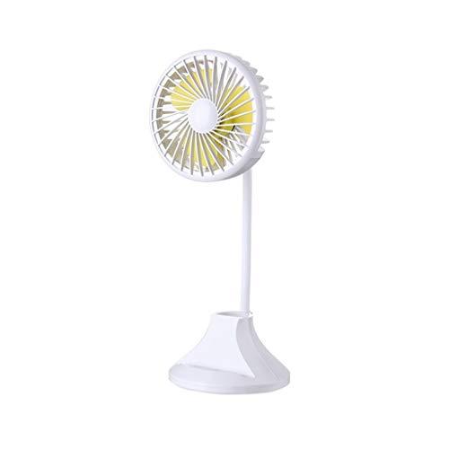 Motor Lagerung Stehen (Gib niemals auf Kreative Tischlampe Lüfter USB Aufladung und Lagerung Doppelfunktion großer Wind großes Licht kleines Fan Nachtlicht (Color : White))