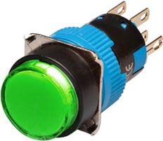 Illum. Push Button, 16MM, MOM, RND, GRN RJS-K16-271-GE-65J -