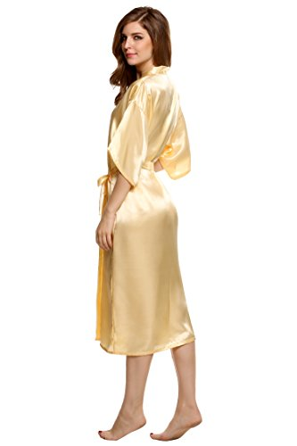 ZEARO 2016 Kimono Robe Schlafanzug Damen Bademantel Satin Pyjama ...