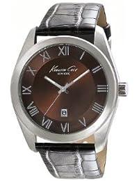 Kenneth Cole pour homme Cadran Marron, Acier inoxydable, bracelet cuir Kc1927(Reconditionné Certifié)