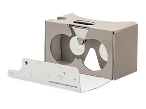 Cardboard Virtual-Reality-Brille Version 2.0 - für Smartphone ab 5 Zoll Displaygröße