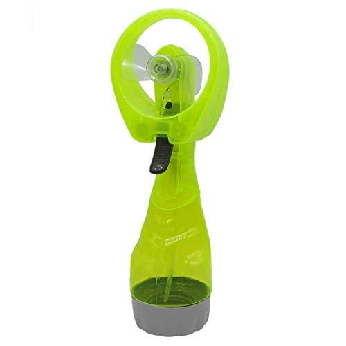 ECOSWAY Sommer Kühl Wasser Düsen Handgehalten Lüfter, Tragbar Batteriebetrieben Kühlung Kühl Wasser Spray Mini Düsen Lüfter, Draußen Reisen Strand Persönlicher Kühlung Dunst Luftbefeuchter - Grün -